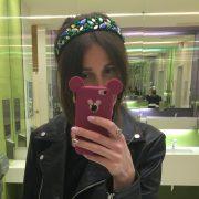 Ободок для волос зелёный