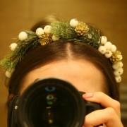 ободок для волос с елью на новый год