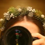 Ободок для волос «новогодний обруч»