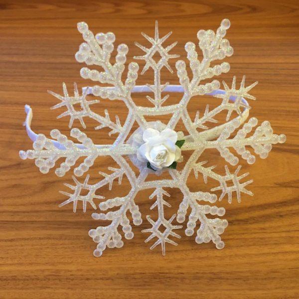 Ободок для волос Снежинка