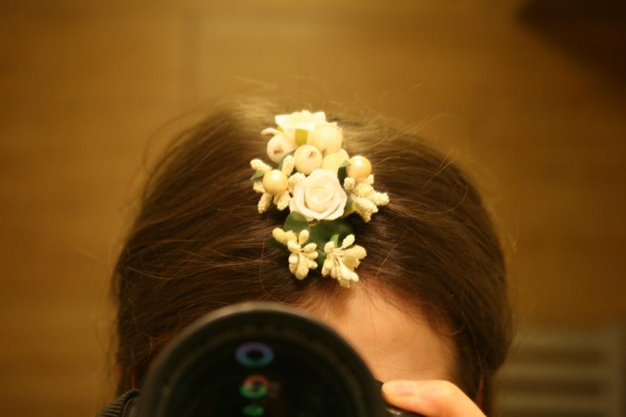 Обруч для волос с цветами из лент своими руками 89
