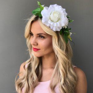 Венок для волос белый