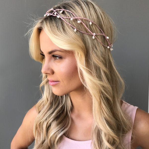 Веночек на голову розовый
