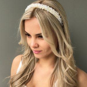 Белый ободок для волос