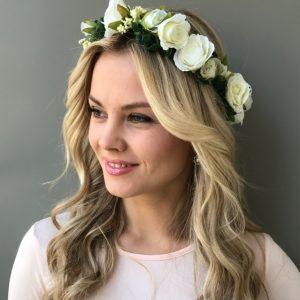 Венок для волос свадебный