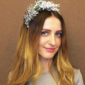 Ободок для волос новогодний с цветами