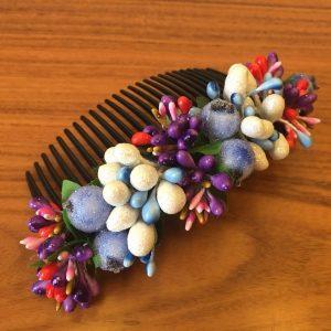 Гребень для волос фиолетово-голубой