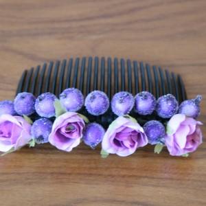 Гребень для волос фиолетовый