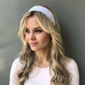 Ободок для волос с кружевом