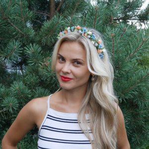 Ободок для волос с тюльпанами