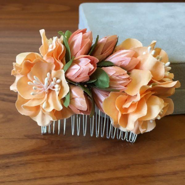 Гребень для волос с тюльпанами