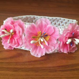 Детская повязка розовая