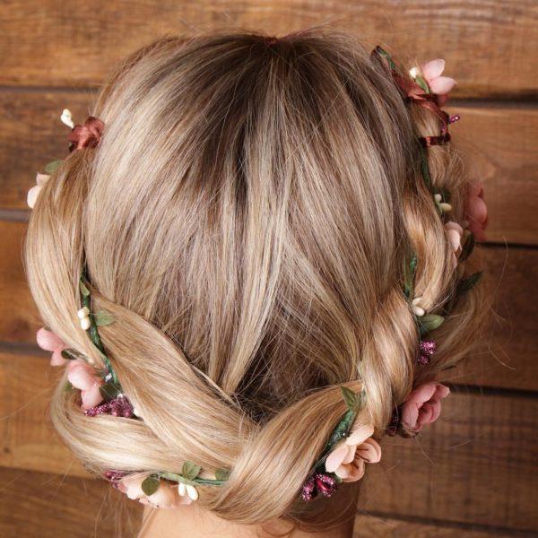 Веточка для волос с цветами