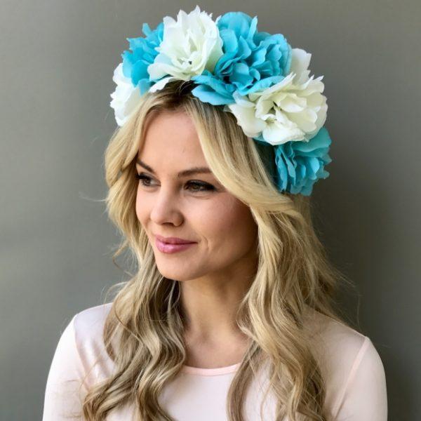 Ободок для волос голубой