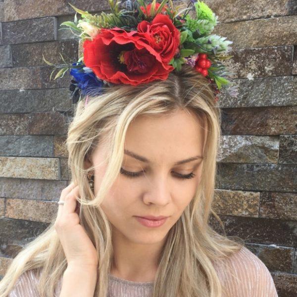 Ободок для волос в украинском стиле