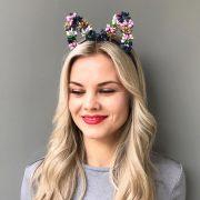 Ободок цветочные уши