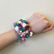 свадебный браслет из цветов