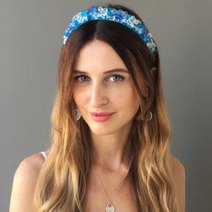 Синий ободок для волос